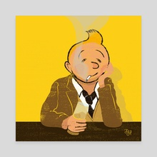 Looser Tintin - Canvas by LeftHandedGraphic