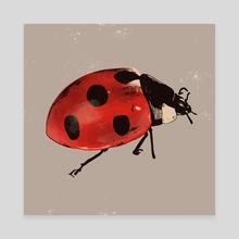 Lady bug - Canvas by Shane Tolentino