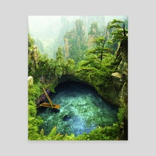 Paradise - Canvas by Justin Peters