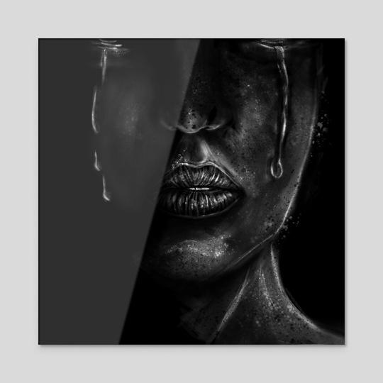 B&W Sad Face by Lorenzo Loera