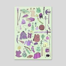 Merchant Inventory  - Acrylic by Raven Warner