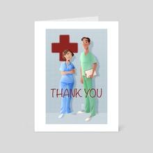 Thank you - Art Card by Marta Garcia