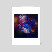 Swirling lines and human palm - Art Card by Bruce Rolff