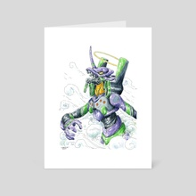 Eva unit 01 - Art Card by John Carvajal