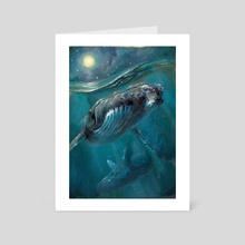 Whale Sonata - Art Card by Joyful Enriquez