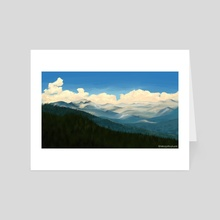 Mountains - Art Card by Nicola Robson