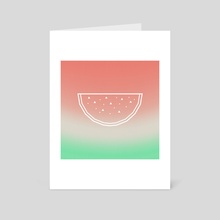 Watermelon - Art Card by e Drawings38