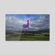 Sentinel of the Oaken Valley - Acrylic by Averee Chaloupka