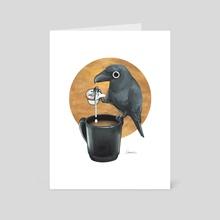 CAWfee Crow - Art Card by Sabrina O'Donnell