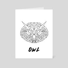 Geometric Owl - Art Card by Alessio Mollo