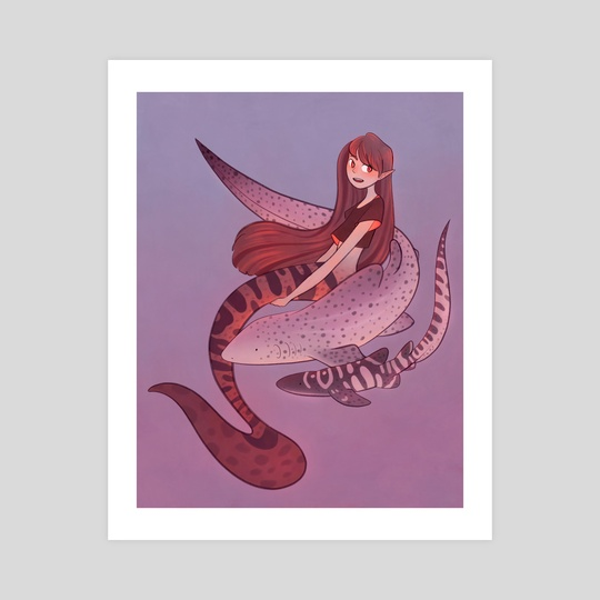 Mermay - Zebra Shark by Kellie Nicely