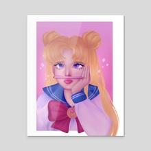 Sailor Moon - Daydream - Acrylic by Nour
