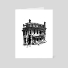 The Van Rynne House - Art Card by M. S. Corley