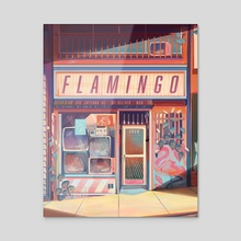 Flamingo Electronics - Acrylic by Geneva Bowers