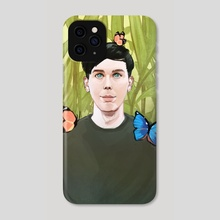 Phil, Plants, and Butterflies - Phone Case by Carolee