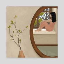Melancholy Reflections - Canvas by Casandra Lee