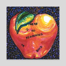 Philosophical Apple - Canvas by Allie