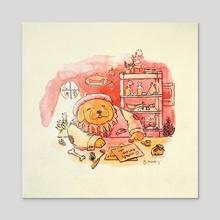 Bulky Shopkeep - Acrylic by Abbie Sears