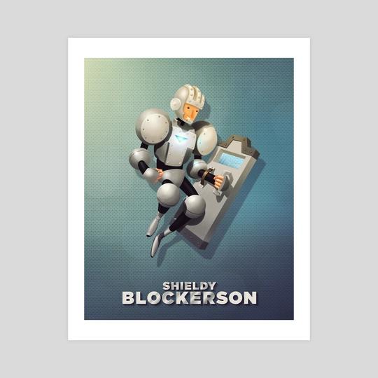 Shieldy Blockerson by Steve Courtney
