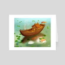 On The Pond - Art Card by Brett Stebbins
