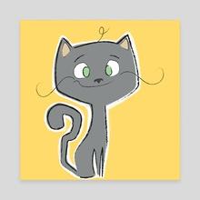 The Grey Cat - Canvas by Howard  Brewitt
