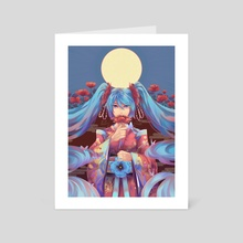 Poppy Miku - Art Card by Mitsukiven