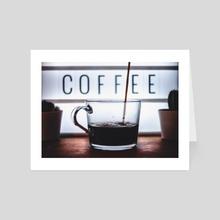 Coffee Break - Art Card by Tom Sittig
