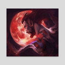 Bloody moon - Canvas by Ssara P. Selvik