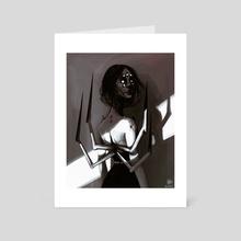 what are u lookin' at? - Art Card by Natalia Escobar