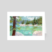 Lake Tahoe - Art Card by Ed  Pulella
