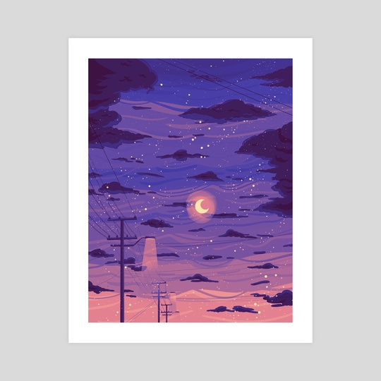 Purple skies by 3am in jupiter