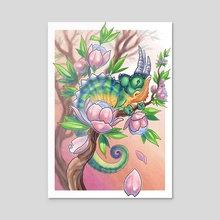 Chameleon  - Acrylic by Daniel Claessens