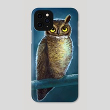 Night Owl - Phone Case by Indré Bankauskaité