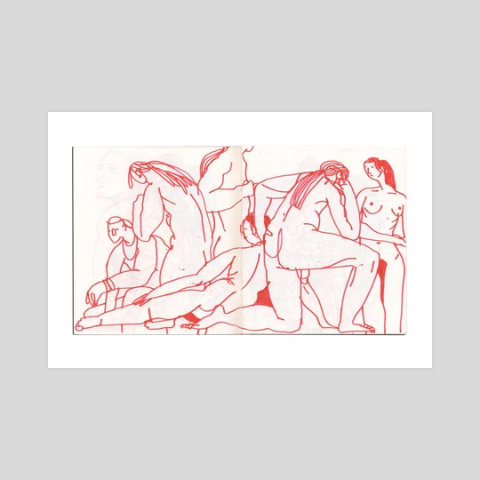 012318. figure drawing. invisible dog. (5 of 7) by alex eben meyer