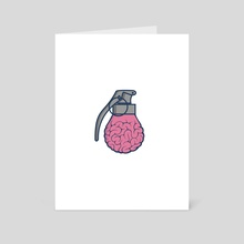 Brain Grenade - Art Card by Liam Davidson