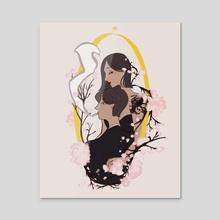 blossom - Acrylic by ʙᴇᴇ