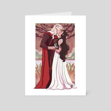 The Dragon and the Wolf - Art Card by NaomiMakesArt