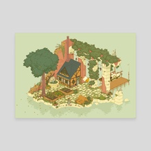 island home - Canvas by Anine Bösenberg