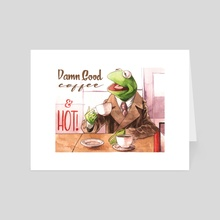 Cooper the Frog - Art Card by Justin DeVine