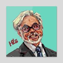 Hayao Miyazaki - Acrylic by HYZO