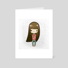 Bobble Head - Art Card by Alana O'Brien