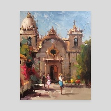 Carmel Mission - Canvas by Mostafa Keyhani