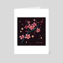 almond blossoms - Art Card by Prinsomnia