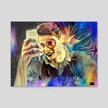 Selfie 3 - Acrylic by Vanja Rancic