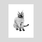 cat001 - Art Print by Heera Cha