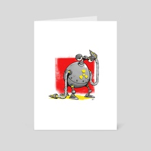 Nuclear Reactor Robot - Art Card by Shane Hunt