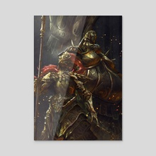 Dragon Slayer Ornstein and Executioner Smough - Acrylic by Sarayu Ruangvesh