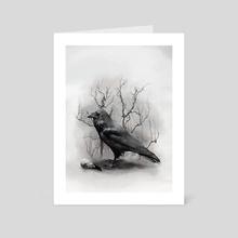 The Raven - Art Card by Anima Somnia