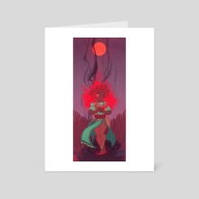 Fire Witch - Art Card by Asher Dumonchelle