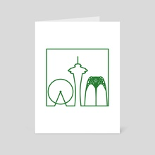 Seattle - Art Card by Ken Taylor